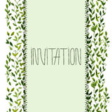 Foliar frame design for greeting card Royalty Free Stock Photography