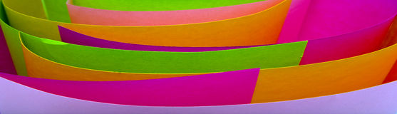 Folias of the coloured paper Royalty Free Stock Image