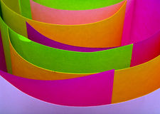 Folias of the coloured paper Royalty Free Stock Photos