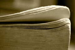 Folias of old book Royalty Free Stock Photography