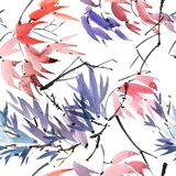 Foliate картина акварели Стоковая Фотография