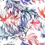 Foliate картина акварели Стоковая Фотография RF