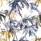 Foliate картина акварели Стоковое Фото
