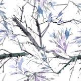 Foliate картина акварели Стоковые Изображения RF