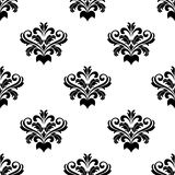 Foliate arabesque pattern for damask Royalty Free Stock Photography