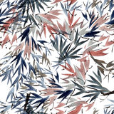 Foliate watercolor pattern Stock Photos