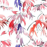 Foliate watercolor pattern Royalty Free Stock Photo