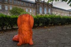 Folichon delante del viejo castel en Bayreuth Imagen de archivo