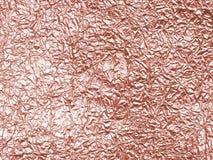 Folien-Hintergrundbeschaffenheit Rose gold- Lizenzfreie Stockfotos