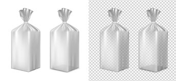 Folien- oder Papierverpacken Kissen für Brot, Kaffee, Bonbons, cooki stock abbildung