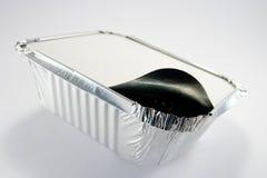 Folien-Tellersegment mit geöffneter Kappe Stockfotografie