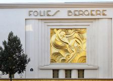 The Folies Bergeres theater in Paris Stock Photography