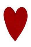 Foliforme vermelho como um coração Foto de Stock Royalty Free