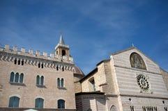 Foligno medeltida stad, Italien arkivbild