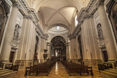 Duomo of Foligno, interior Stock Images