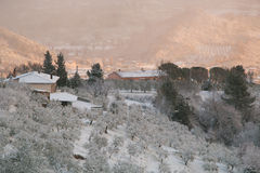 Foligno during snow storm in winter Royalty Free Stock Photography