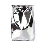 Foliowa pakunek torba odizolowywająca na bielu fotografia royalty free