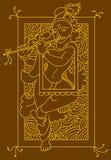 Folk 009 Ram. Krishna in Folk, tribal Designs, Motif, wall painting Stock Photos