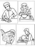 folk Stock Illustrationer
