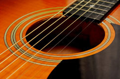 Folk acoustic guitar Royalty Free Stock Photos