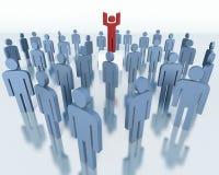 Folk - affärslagbegrepp Arkivfoto