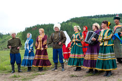Folk amateur performance Royalty Free Stock Photography
