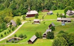 Folk architecture, Slovakia, Europe Royalty Free Stock Photos