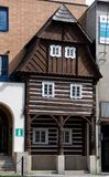 Folk arkitektur i Zelezny Brod, Tjeckien Royaltyfri Fotografi