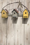 Folk Art Birdhouses Stock Photo