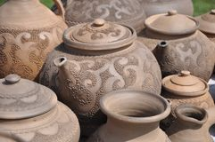 Folk art. ceramics. kettle Royalty Free Stock Images