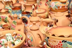 Folk art. ceramics. kettle Stock Image