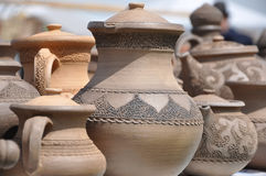 Folk art. ceramics.pitcher Royalty Free Stock Images