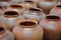 Folk art. ceramics. pots Stock Photos
