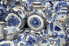 Folk art. ceramics. tableware Stock Photography