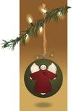 Folk Art Christmas Ball & Lights Stock Photography
