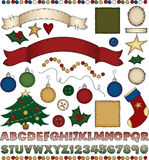 Folk Art Christmas Scrapbook Kit Royalty Free Stock Photos