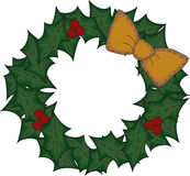 Folk Art Christmas Wreath Royalty Free Stock Images