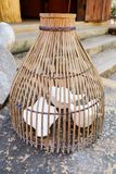 Folk art and culture Bird cage. Or bird competition Stock Photos