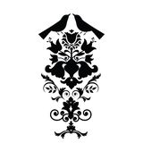 Folk art design elements Stock Image