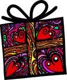 Folk Art Gift Box vektor illustrationer
