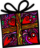Folk Art Gift Box vector illustration