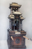 The folk art of Guangdong Chaoshan area, with rare wood carving, gold description made gods. Stock Photography