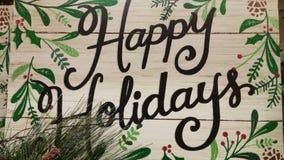 Folk Art Happy Holidays Stock Image