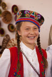 Folk Art Market Annual event in Santa Fe, NM USA. Young Hungarian girl smiling. International Folk Art Market held annually in Santa Fe, New Mexico,  USA Royalty Free Stock Photography