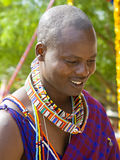 Folk Art Market Annual event in Santa Fe, NM USA. Man from Kenya, Africa in traditional costume. International Folk Art Market held annually in Santa Fe, New Royalty Free Stock Image