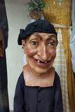 Folk Art Mask Big Head Arkivbild