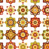 Folk Art Mosaic Tile Pattern vektor illustrationer