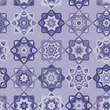 Folk Art Mosaic Tile Pattern Purple stock illustration