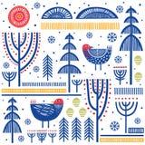 Folk art pattern Royalty Free Stock Photo