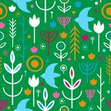 Folk art pattern. In Scandinavian, Nordic style Royalty Free Stock Images